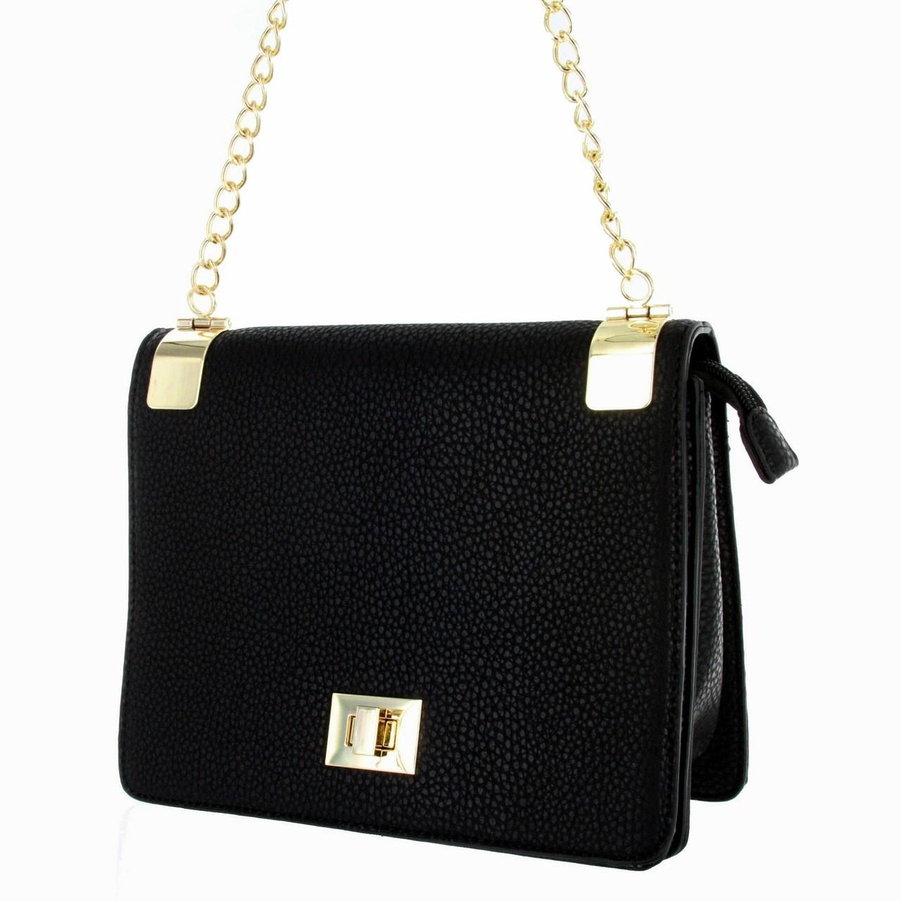 a00b924e8 Alyssa Women's Classic Faux Leather Designer Crossbody Shoulder Handbag  Purse