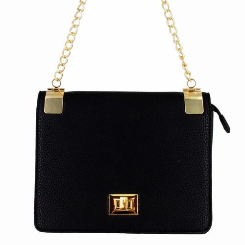 4b6d66167 ... Alyssa Women's Classic Faux Leather Designer Crossbody Shoulder Handbag  Purse ...