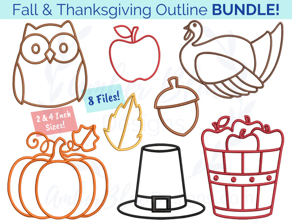 Fall & Thanksgiving Outline Bundle