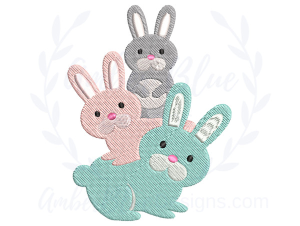 Stacked Bunnies