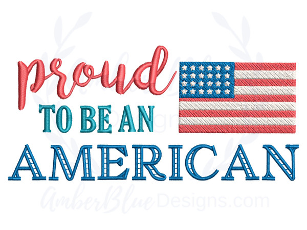 Proud To Be An American, Flag