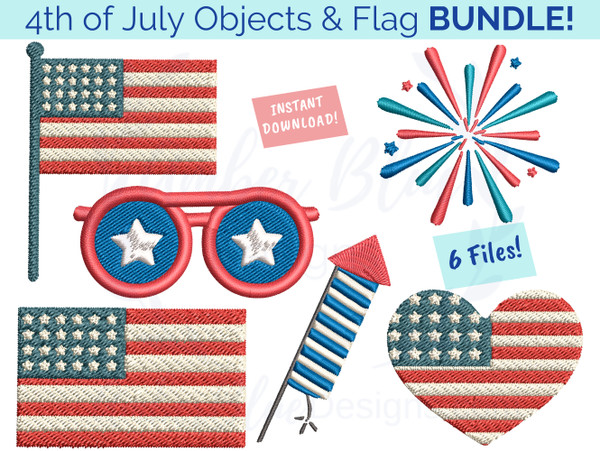 4th of July Objects & Flags Bundle