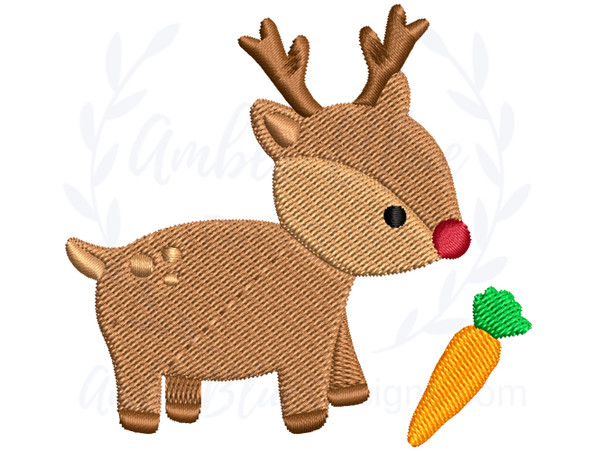 Baby Reindeer with a Carrot