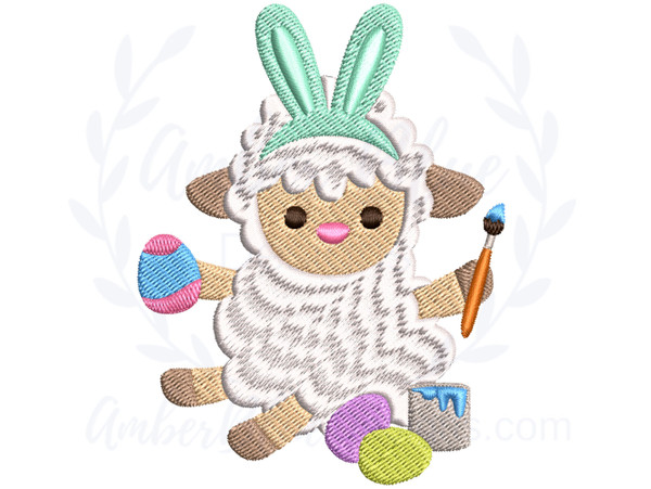 Easter Egg Painting Sheep