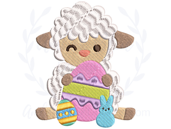 Winking Easter Sheep
