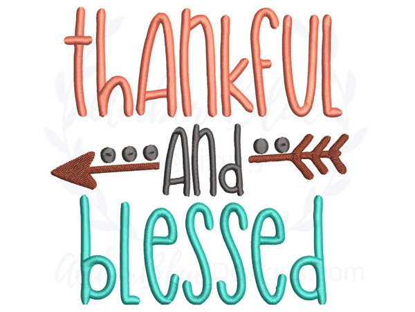 Thankful and Blessed Arrow