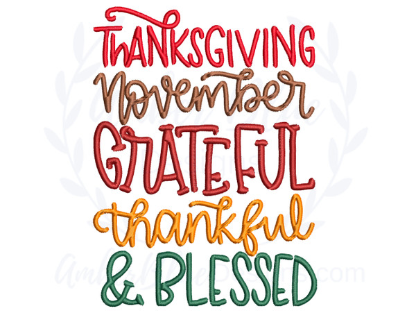 Thanksgiving Thankful & Blessed