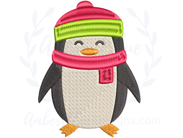Hat and Scarf Penguin