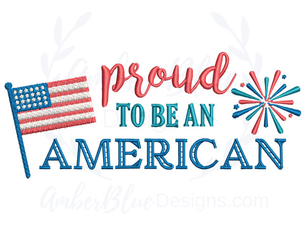 Proud To Be An American, Flag and Fireworks