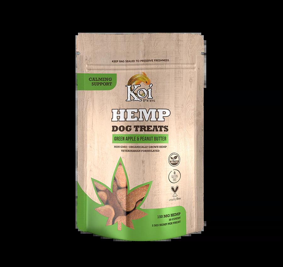Koi Hemp Extract Dog Treats | Calming Support - Green Apple & Peanut Butter