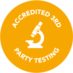 Accredited 3rd Party Testing