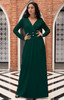 KOH KOH Long Sleeve Flowy Casual Maxi Dress Gown - NT311