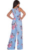 KOH KOH Womens Floral Pattern Long Pants Jumpsuit - NT147_B105