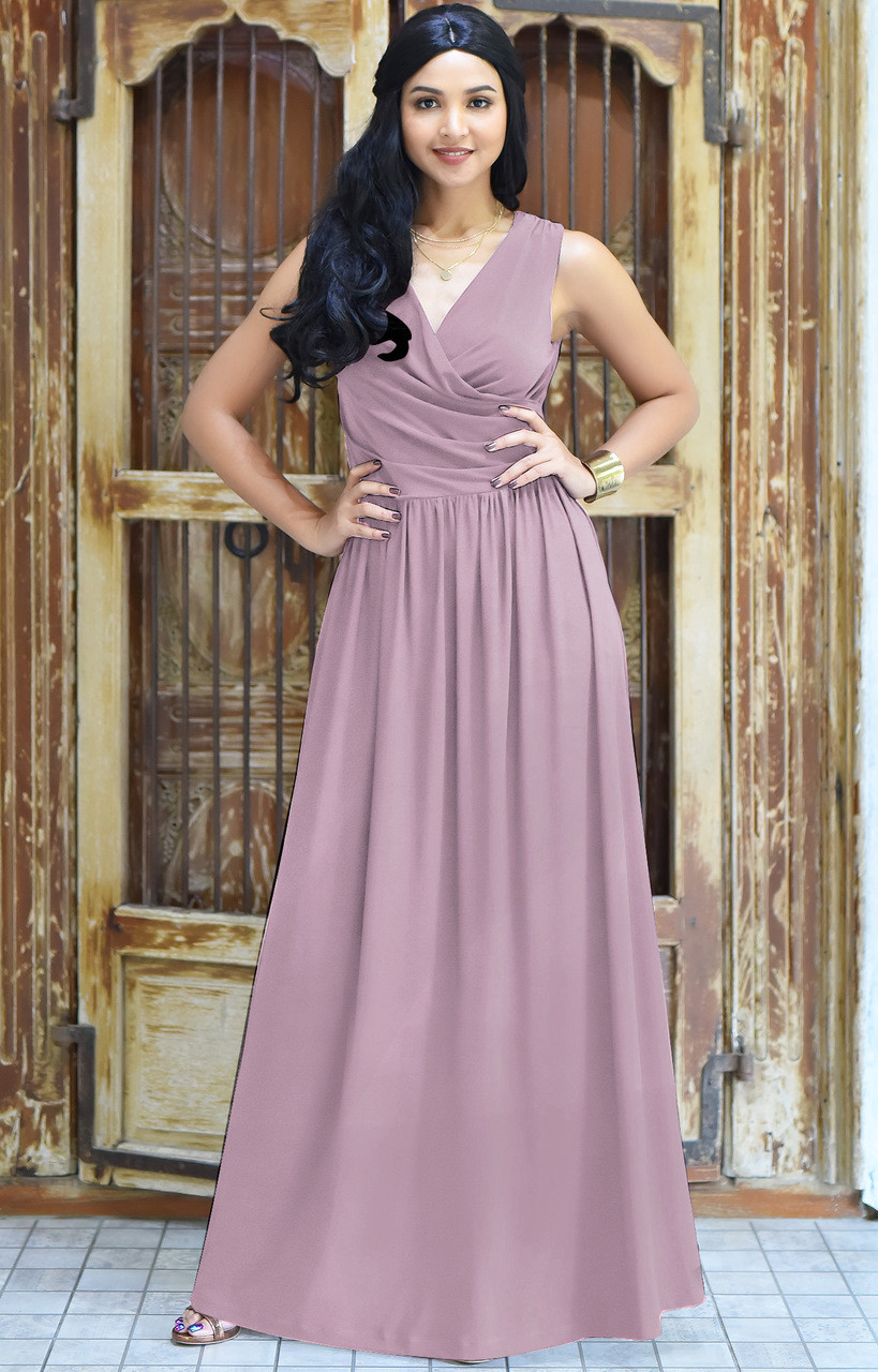 5e5bf266685 KOH KOH Sleeveless Bridesmaid Cocktail Maxi Dress - NT022 - KOH KOH ...