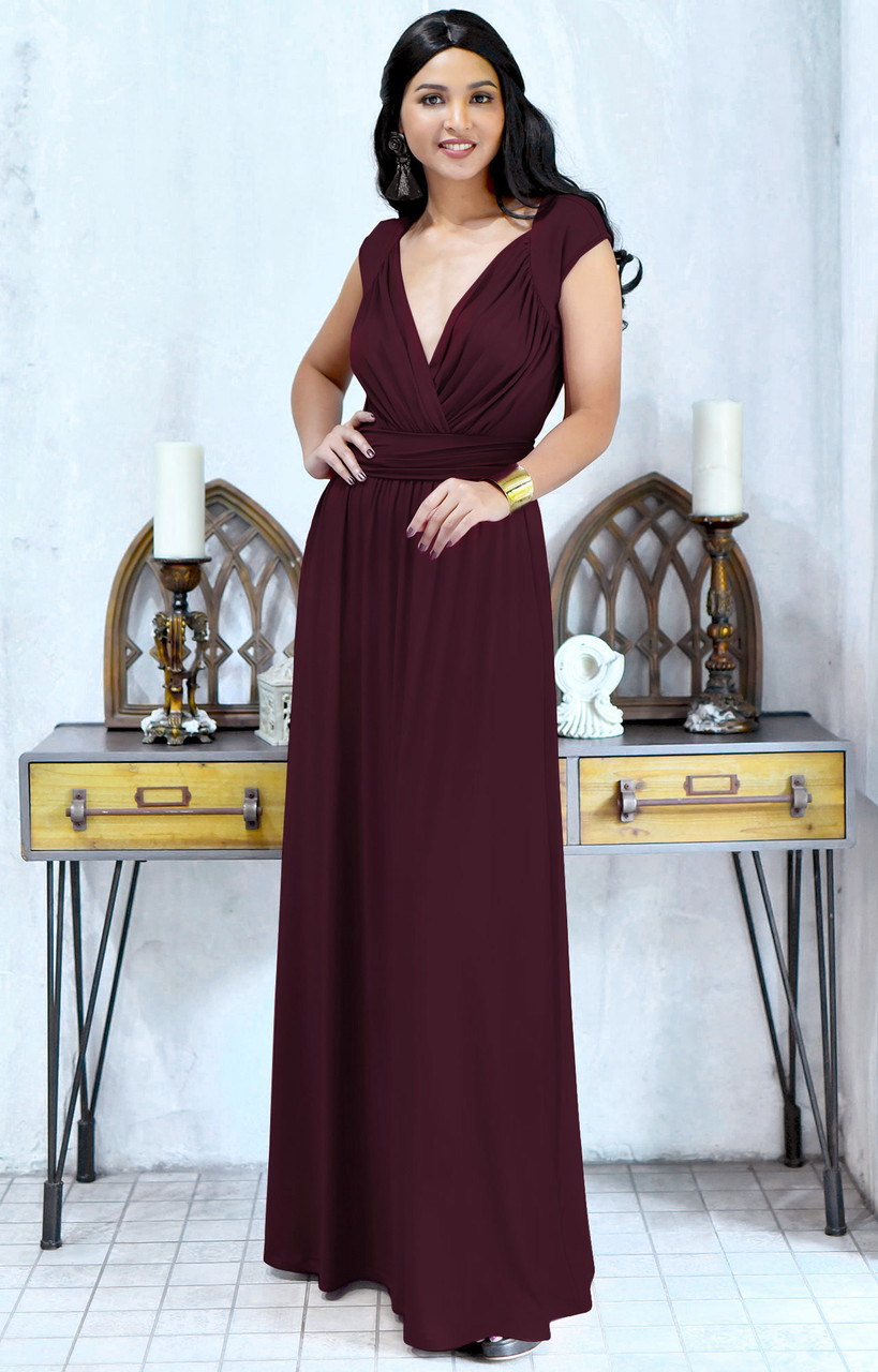 95024d11ca6 KOH KOH Wedding Bridesmaid Evening Maxi Dress Gown - NT229 - KOH KOH ...