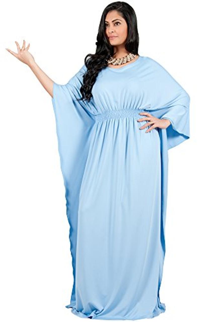 A&V Plus Size Batwing sleeve Evening Maxi Dress - AV113