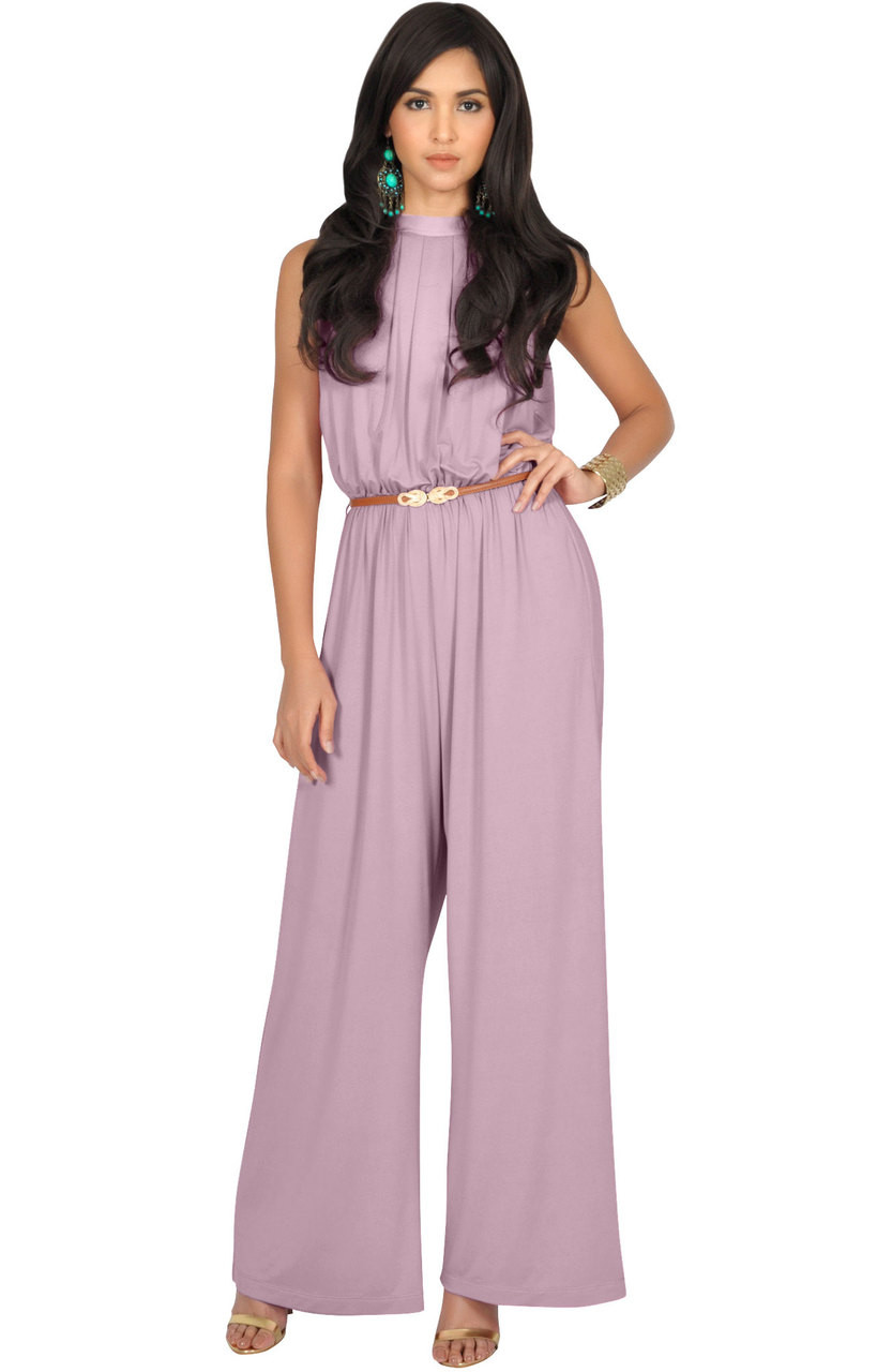 b40df423732 Long Sleeveless Dressy Bell Bottom Pants Suit Jumpsuit Romper - NT202