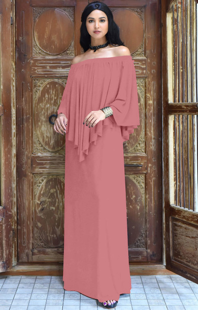 Maxi Dresses Long Off Shoulder Strapless Dressy Cocktail Gown - NT059