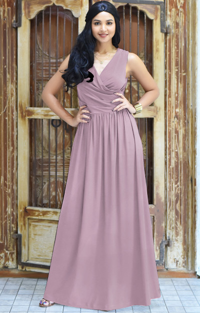 KOH KOH  Sleeveless Bridesmaid Cocktail Maxi Dress - NT022