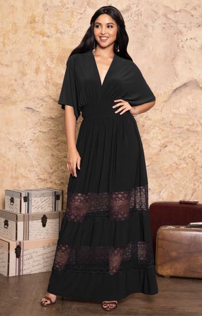 KOH KOH Bridesmaid Sexy Sundress Gown Maxi Dress - NT319