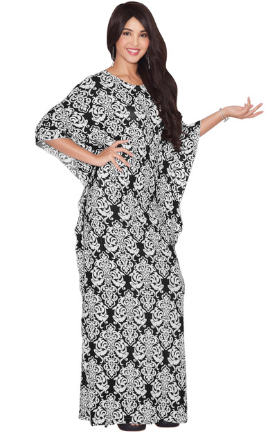 KOH KOH Womens Boho Moroccan Caftan Long Maxi Dress Abaya - NT113_A023