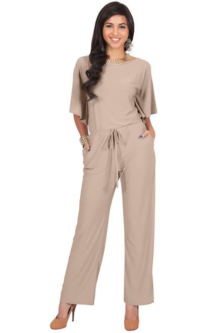 67dd89d22619 KOH KOH Short Sleeve Casual Pantsuit Jumpsuit - NT105 - KOH KOH ...