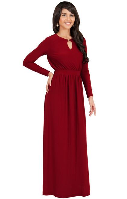 dead3f8e5e KOH KOH Long Sleeve Modest Formal Maxi Dress - NT174 - KOH KOH ...