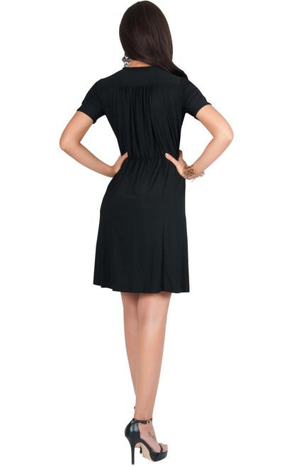 3c2a5676a2d KOH KOH Cute Wrap Short Sleeve Modest Midi Dress - NT259 - KOH KOH ...