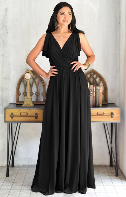 KOH KOH Bridesmaid Wedding Formal Maxi Dress Gown - NT333