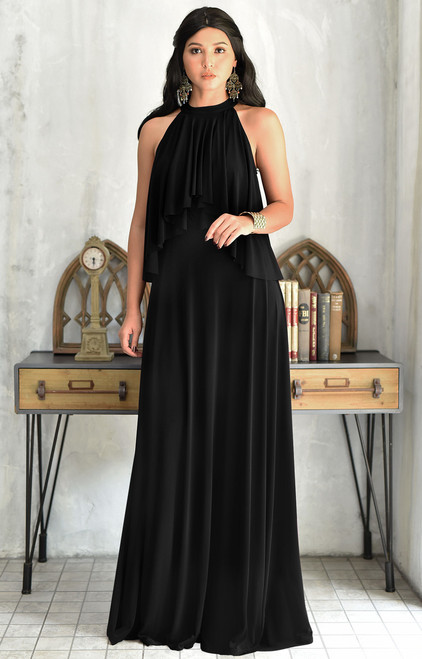KOH KOH Long Bridesmaid Cocktail Maxi Dress Gown - NT337