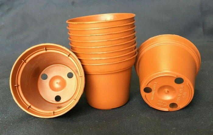 Plastic Flower Pots, 5 cm. TO5 Poppelmann, Lot of 10 new