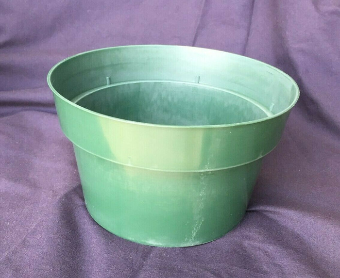 "Bulb Pan, 6"" Green Plastic (1)"