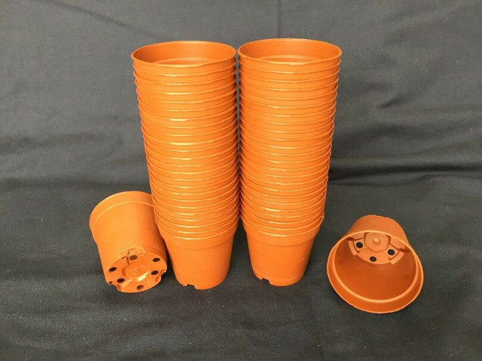 Flower Pots, Plastic MXC5.5 Poppelmann 5.5 cm. Lot of 50 New