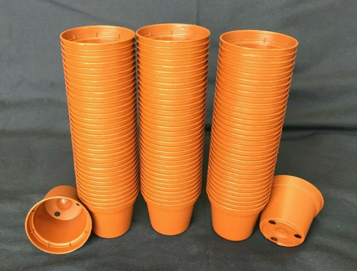 Plastic Pots, TO5, Poppelman 5 cm.  Lot of 100 New