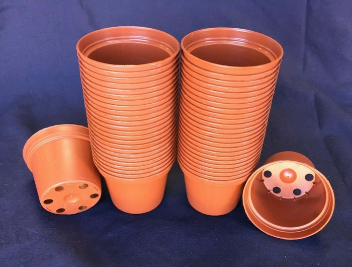 Plastic Pots TO6.5  Poppelmann 6.5 cm.  Lot of 50 New
