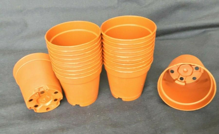 Plastic Pots, MXC5.5 Poppelmann 5.5 cm. Lot of 20 New