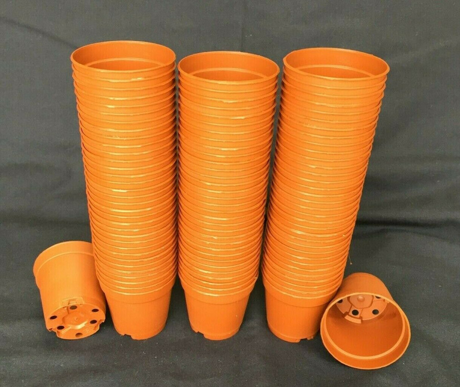 Flower Pots, Plastic, MXC5.5 Poppelmann 5.5 cm. Lot of 100 New