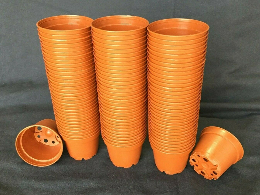 Plastic Pots, TO6D, Poppelmann, 6 cm. Lot of 100 New
