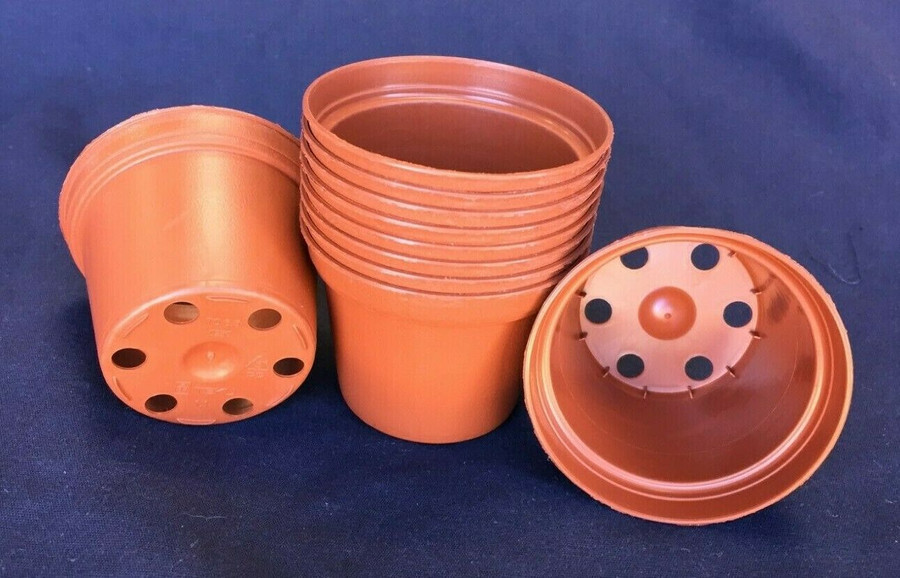 Plastic Pots TO6.5 Poppelmann 6.5cm. Lot of 10 New