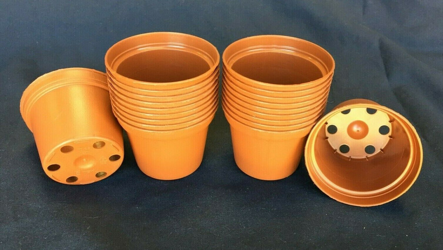 Plastic Pots TO6.5 Poppelmann 6.5 cm.  Lot of 20 New