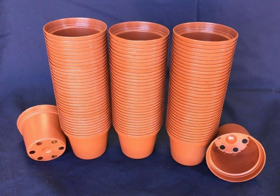 Plastic Pots TO6.5 Poppelmann 6.5 cm.  Lot of 100 New
