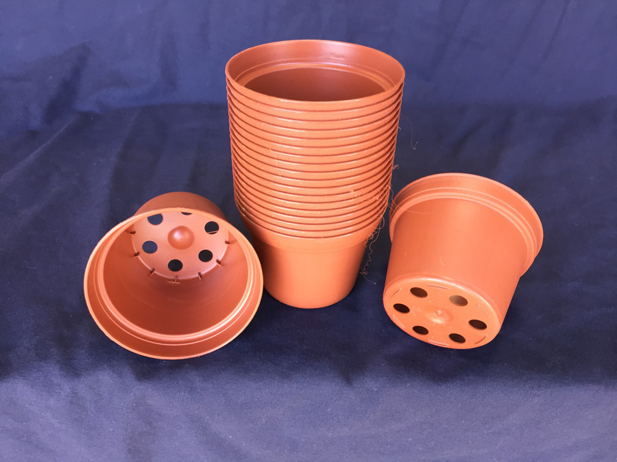 "3"" Plastic Flower Pots,  TO7.5 Poppelmann lot of 20 New"