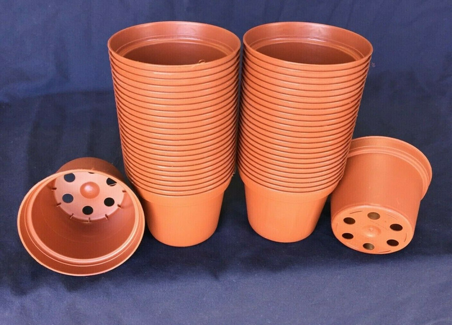 "3"" Plastic Flower Pots,  TO7.5  Poppelmann Lot of 50 New"