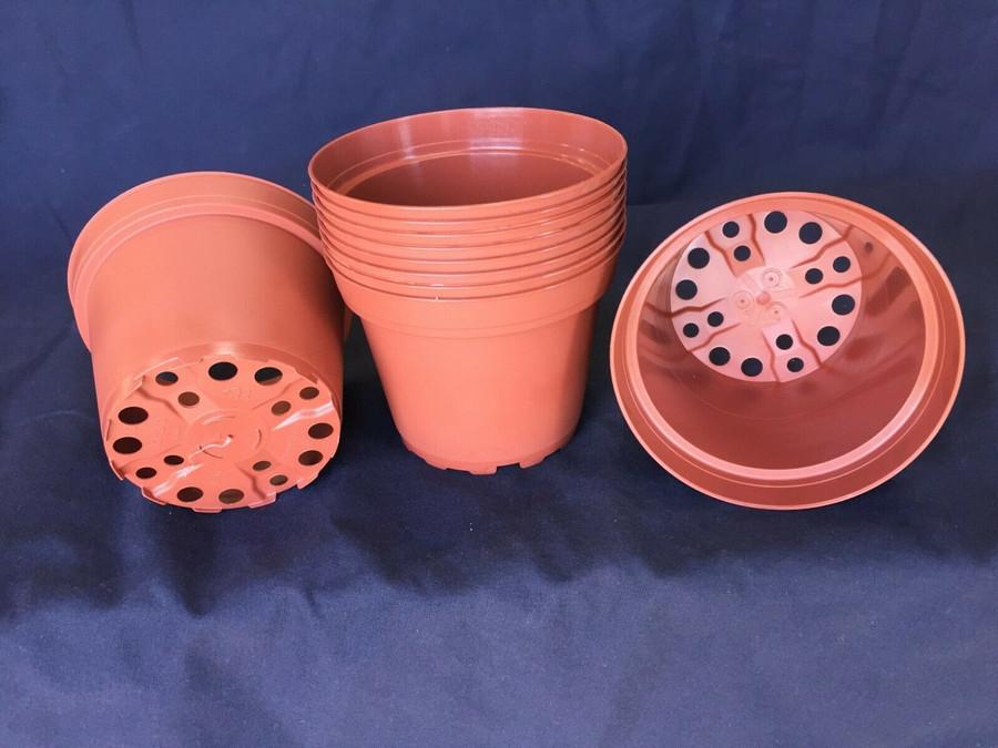 """Plastic Flower Pots, TO10D TC, Poppelmann 10cm. (ap. 4"""") Lot of 10 New"""