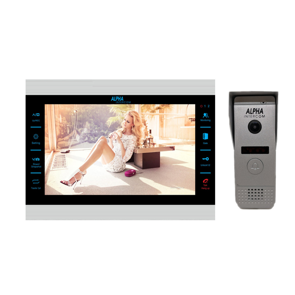 "KIT 1 HD 10 "" Monitor Video kit for single door 720P"