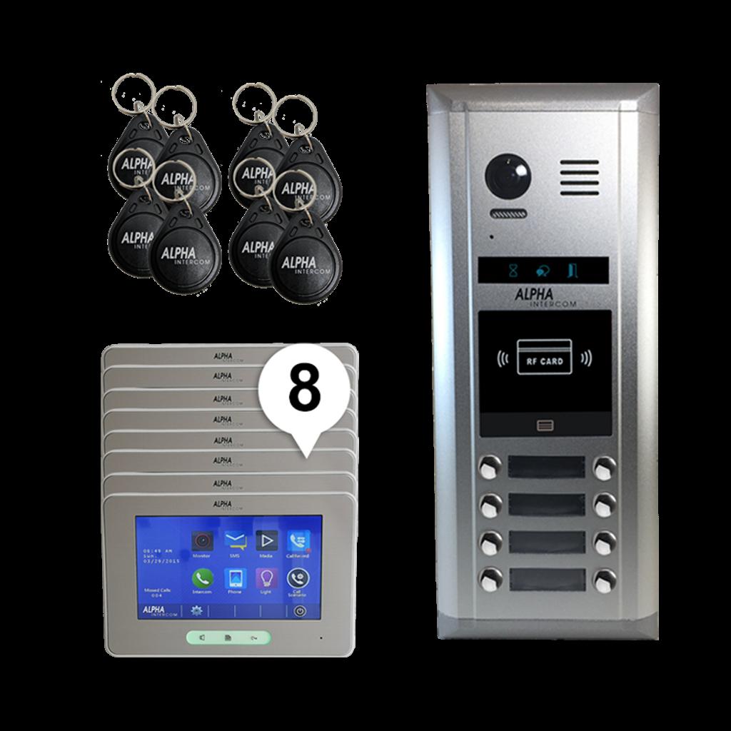 Kit 8 Bts iSimple video intercom Touchscreen