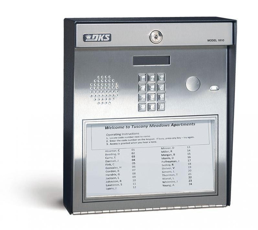 Telephone entry system  Paper Directory  surface