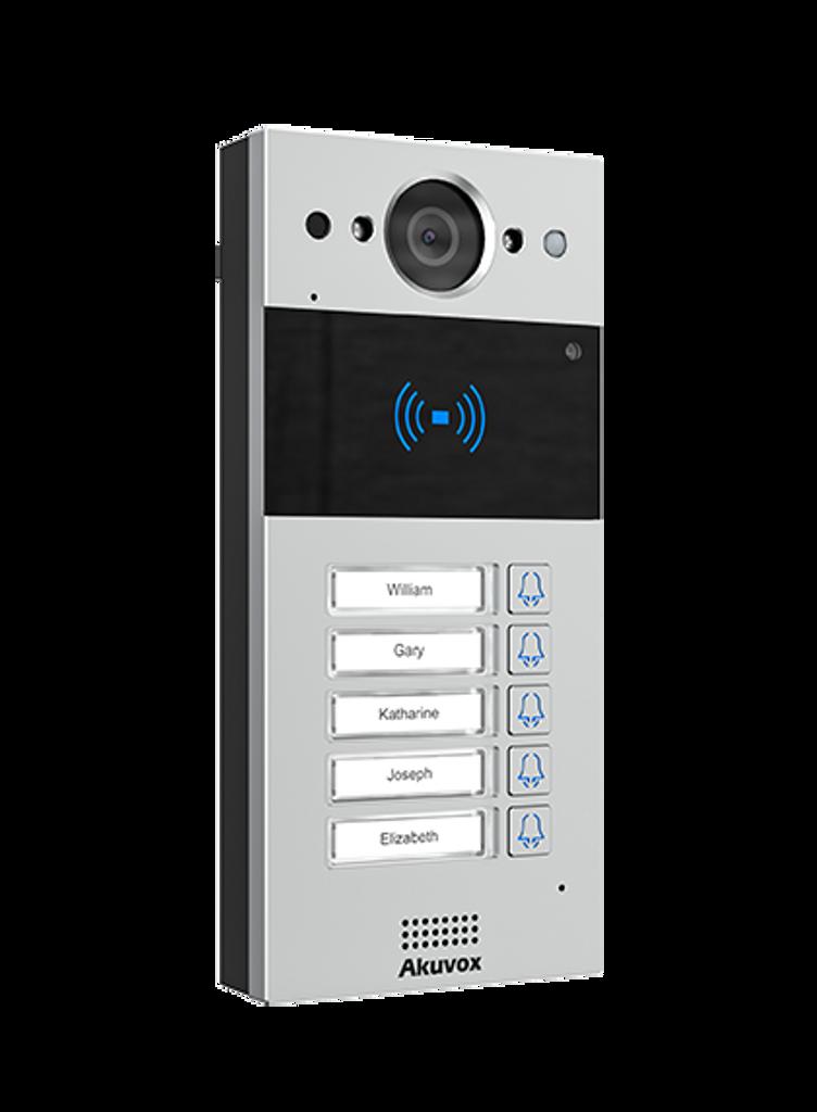 COMPACT SIP VIDEO DOOR PHONE 5 BUTTONS