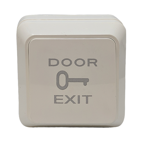 Exit button in plastic