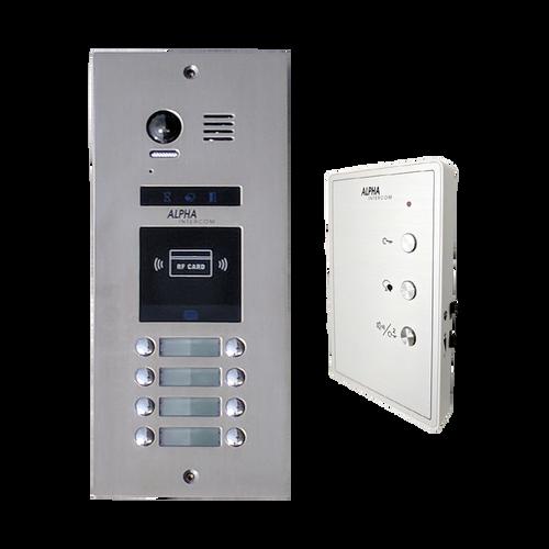 Antivandal audio kit Canada Isimple 8 apts-Vandal resistant intercom